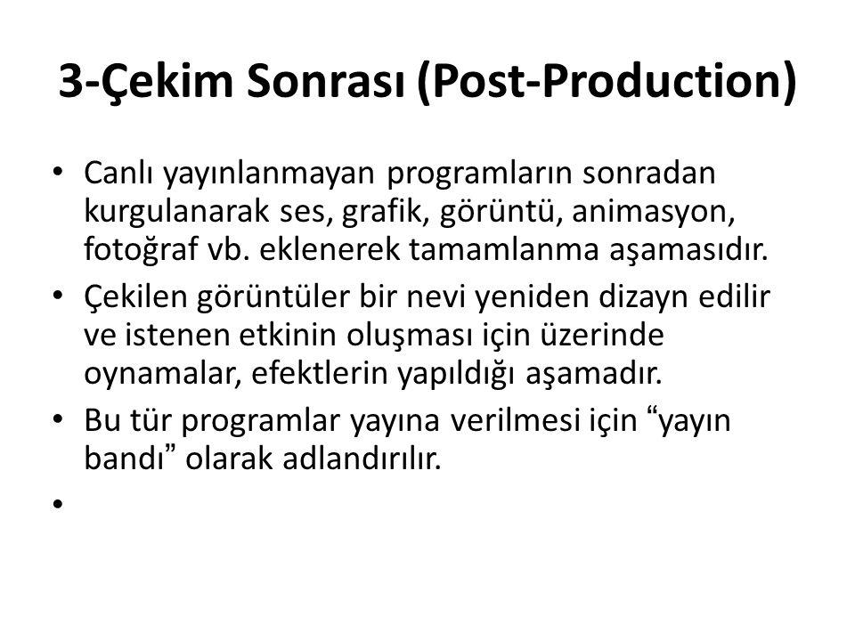 3-Çekim Sonrası (Post-Production)
