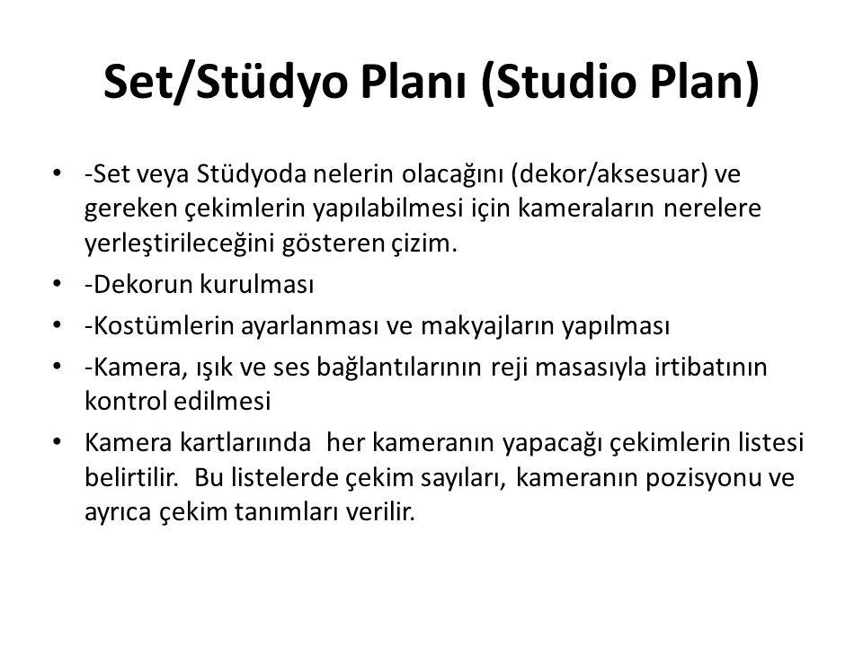 Set/Stüdyo Planı (Studio Plan)