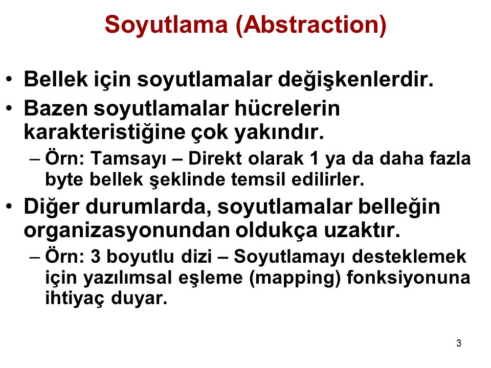 Soyutlama (Abstraction)