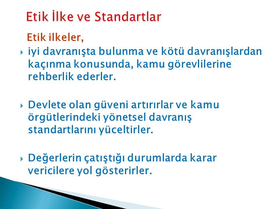 Etik İlke ve Standartlar