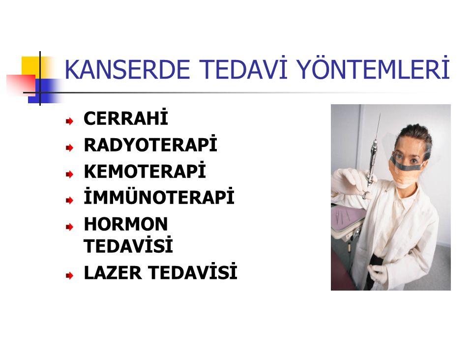 KANSERDE TEDAVİ YÖNTEMLERİ