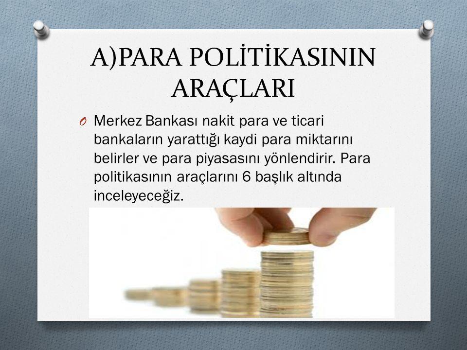 A)PARA POLİTİKASININ ARAÇLARI