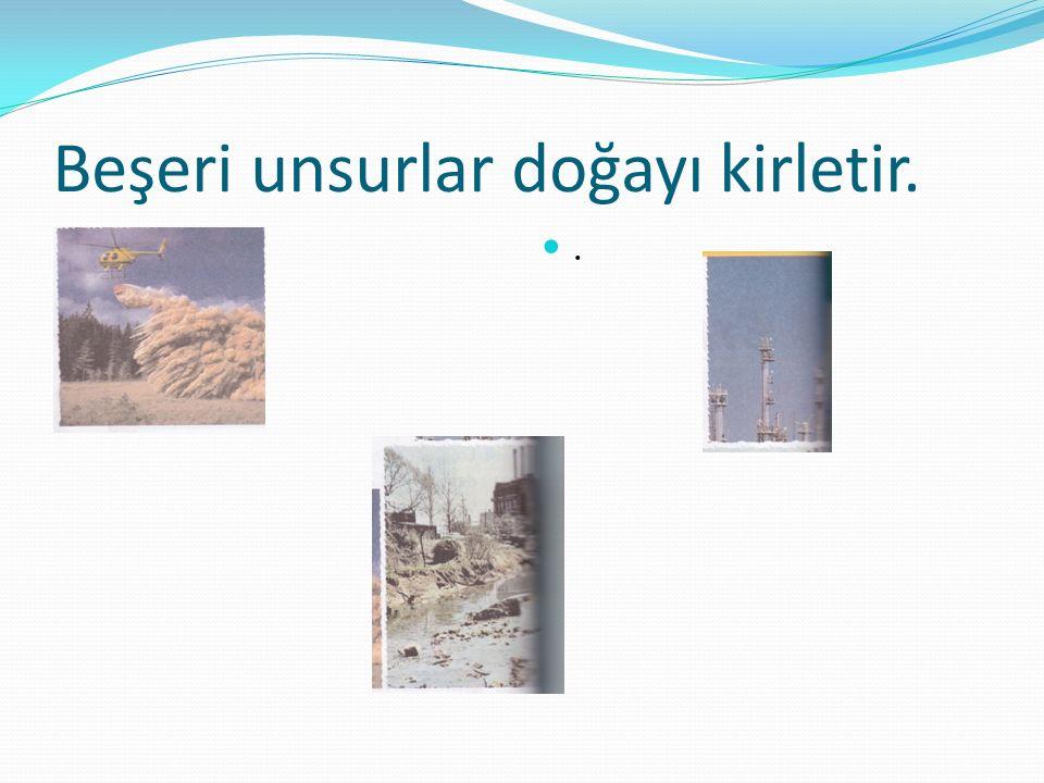 Beşeri unsurlar doğayı kirletir.