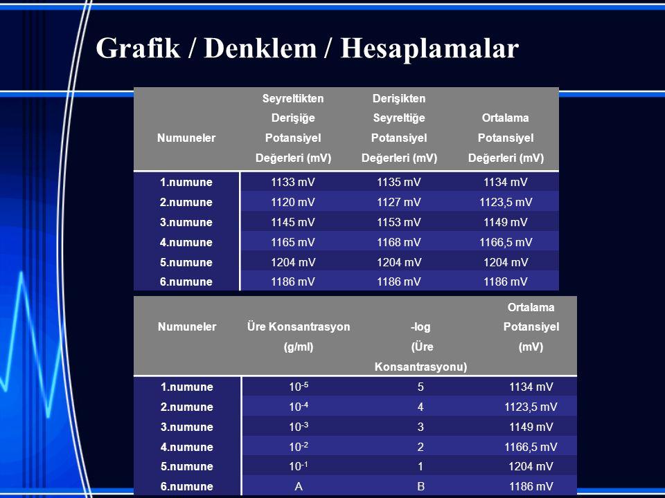 Grafik / Denklem / Hesaplamalar