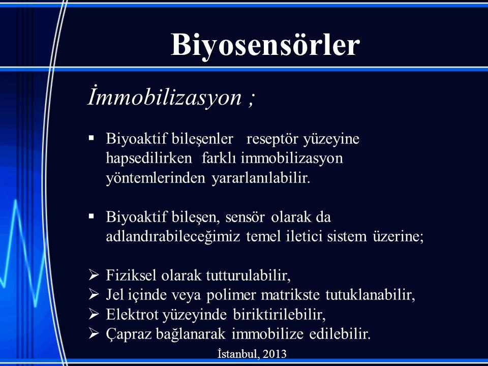 Biyosensörler İmmobilizasyon ;
