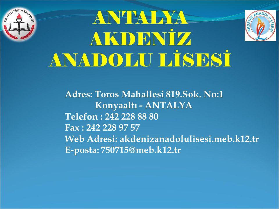 ANTALYA AKDENİZ ANADOLU LİSESİ