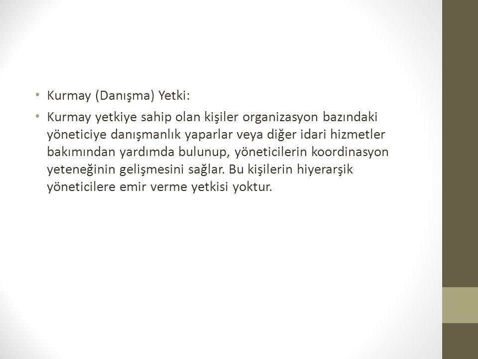 Kurmay (Danışma) Yetki: