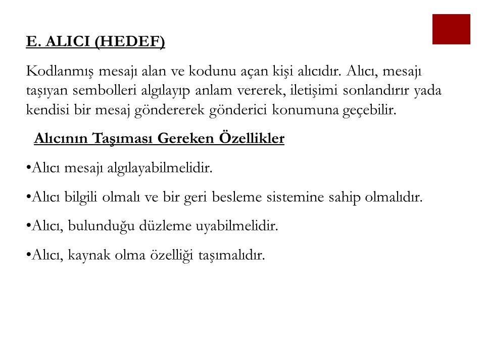 E. ALICI (HEDEF)