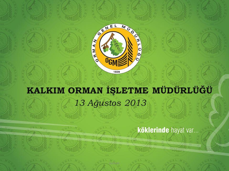 KALKIM ORMAN İŞLETME MÜDÜRLÜĞÜ 13 Ağustos 2013