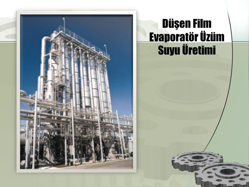Düşen Film Evaporatör Üzüm Suyu Üretimi