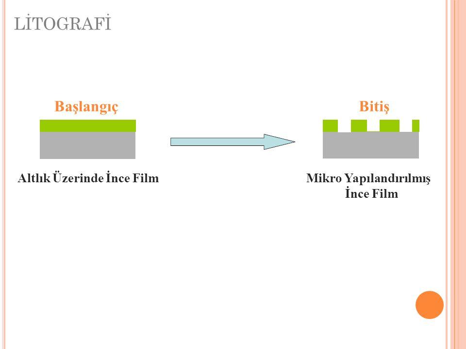 LİTOGRAFİ Başlangıç Bitiş Altlık Üzerinde İnce Film