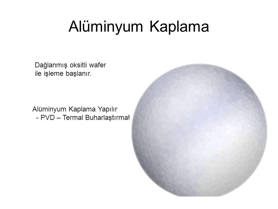 Alüminyum Kaplama Dağlanmış oksitli wafer ile işleme başlanır.