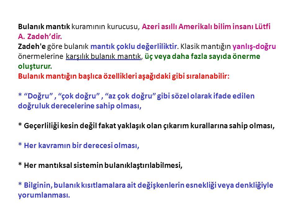 Bulanık mantık kuramının kurucusu, Azeri asıllı Amerikalı bilim insanı Lütfi A.