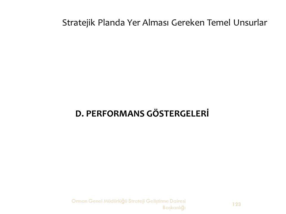 D. PERFORMANS GÖSTERGELERİ