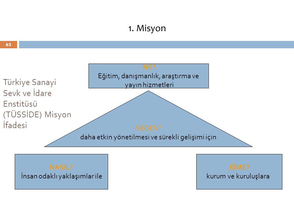 Türkiye Sanayi Sevk ve İdare Enstitüsü (TÜSSİDE) Misyon İfadesi
