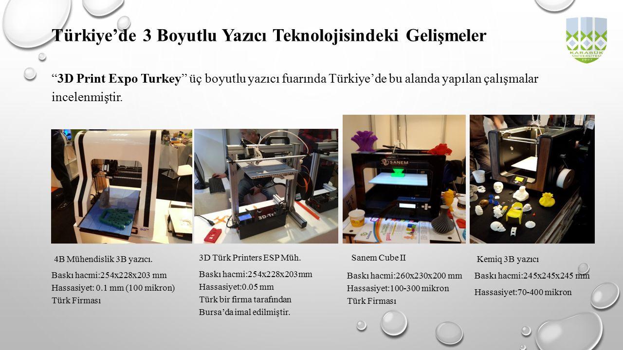 Türkiye'de 3 Boyutlu Yazıcı Teknolojisindeki Gelişmeler