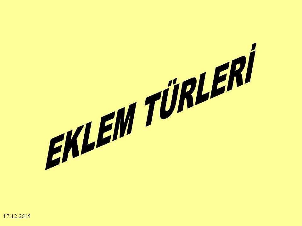 EKLEM TÜRLERİ 25.04.2017