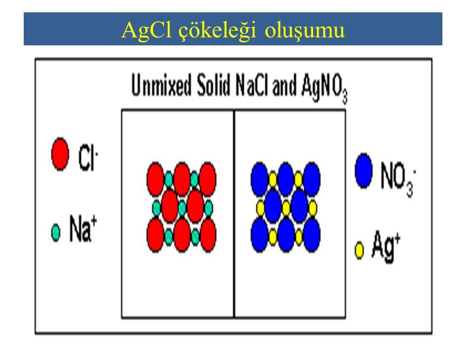 AgCl çökeleği oluşumu