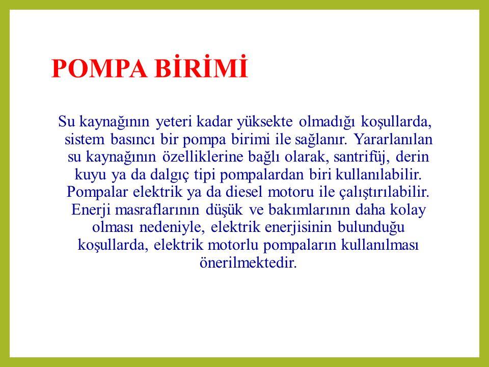 POMPA BİRİMİ