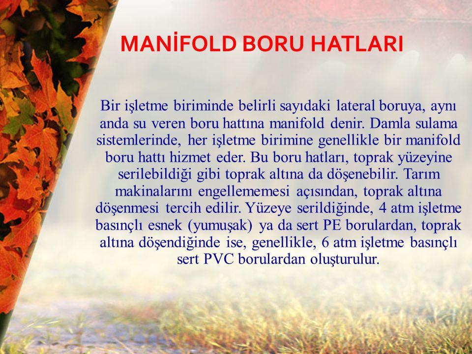 MANİFOLD BORU HATLARI