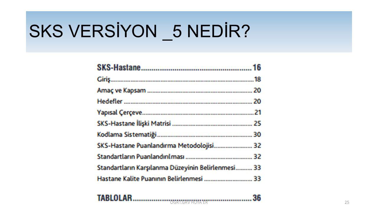 SKS VERSİYON _5 NEDİR ÖĞRT.GRV HÜYA ER