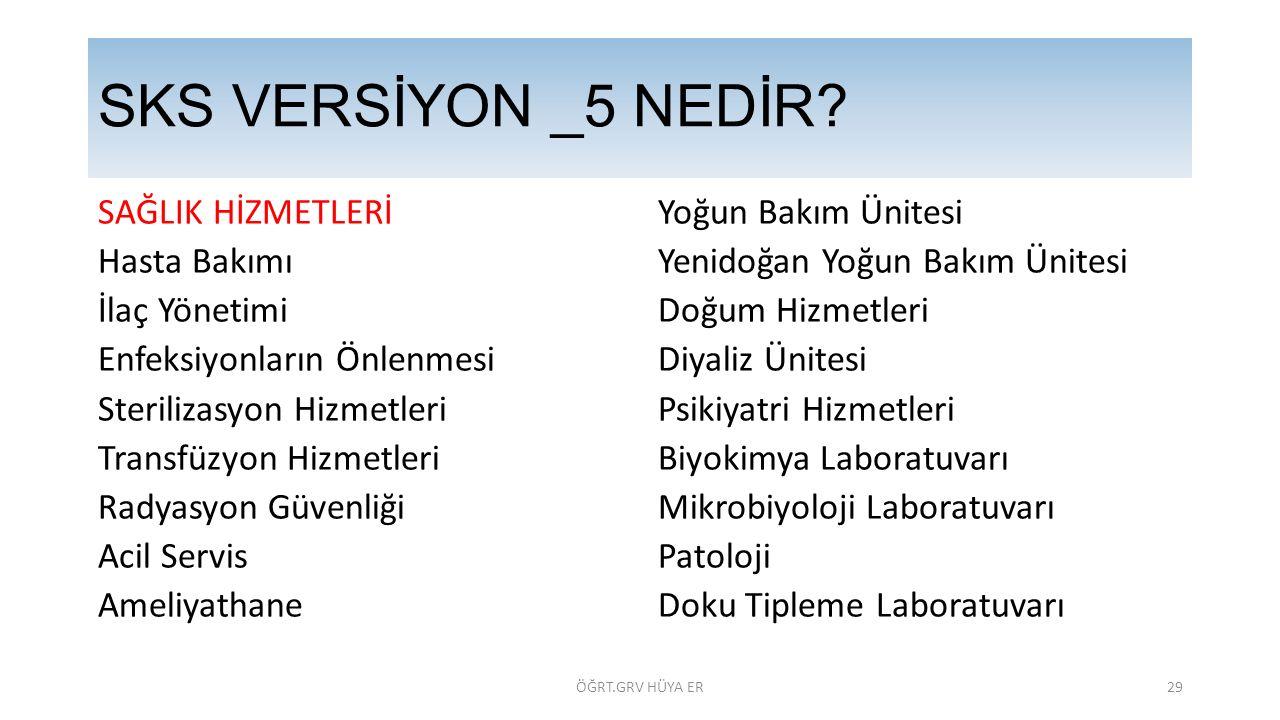 SKS VERSİYON _5 NEDİR