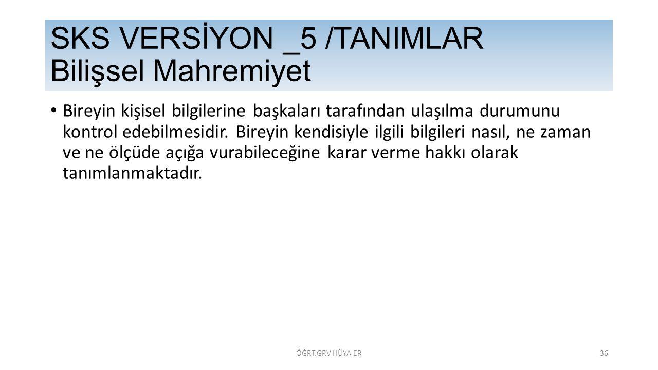 SKS VERSİYON _5 /TANIMLAR Bilişsel Mahremiyet