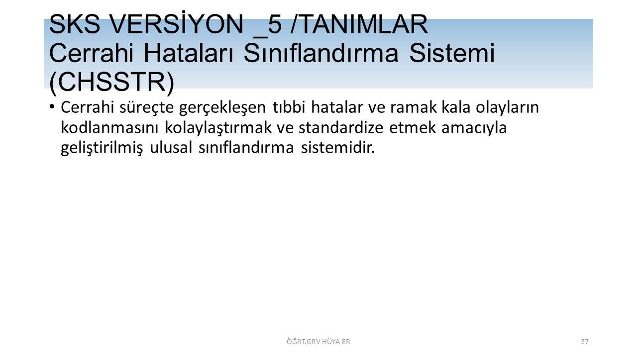 SKS VERSİYON _5 /TANIMLAR Cerrahi Hataları Sınıflandırma Sistemi (CHSSTR)