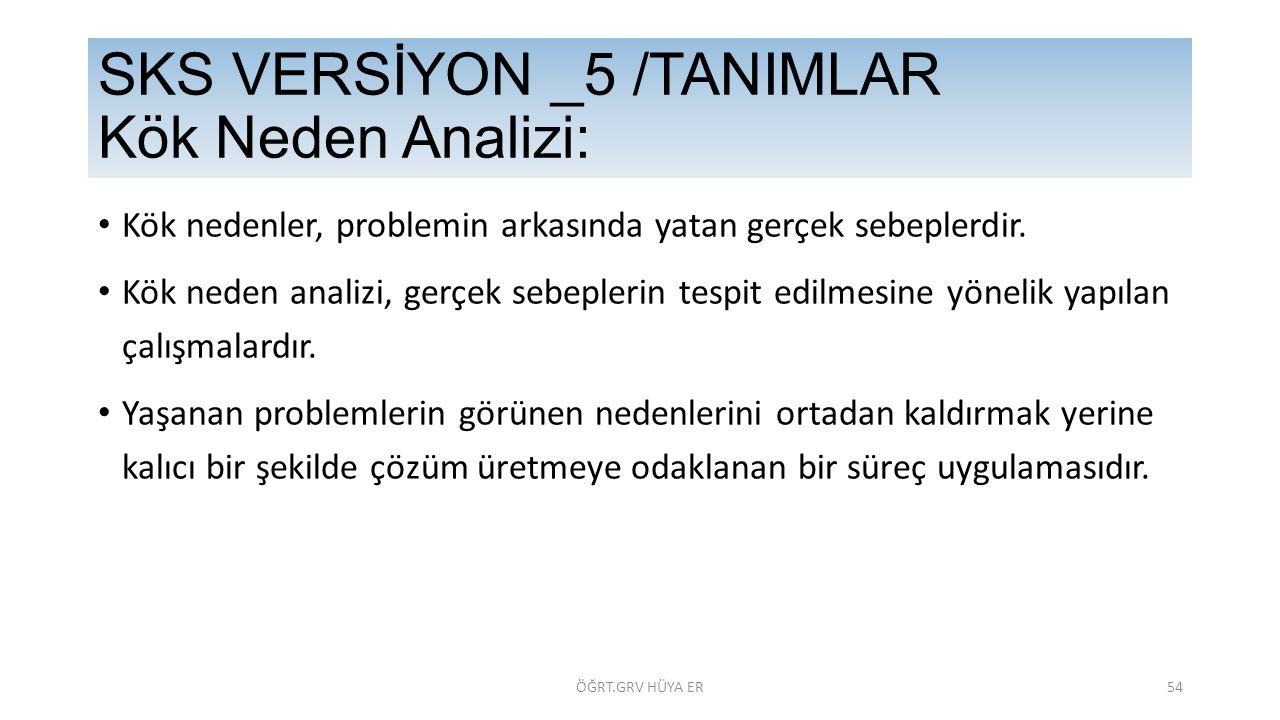 SKS VERSİYON _5 /TANIMLAR Kök Neden Analizi: