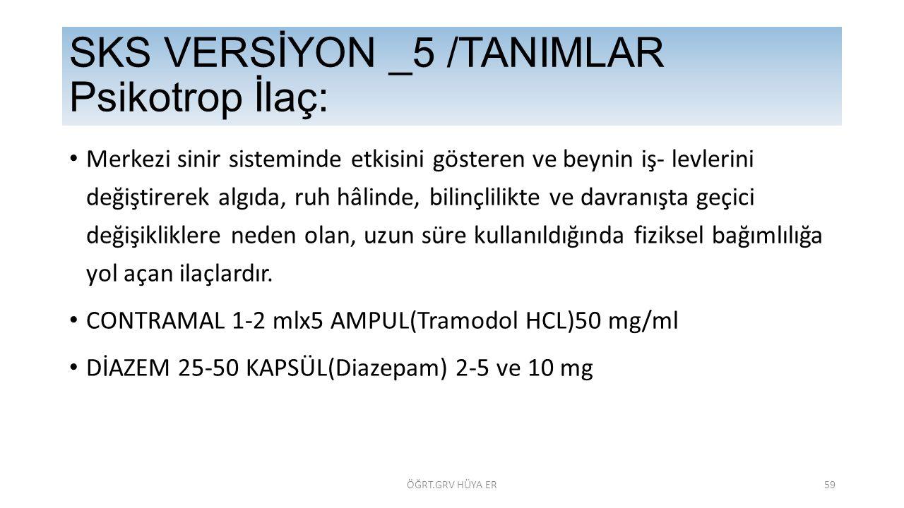 SKS VERSİYON _5 /TANIMLAR Psikotrop İlaç: