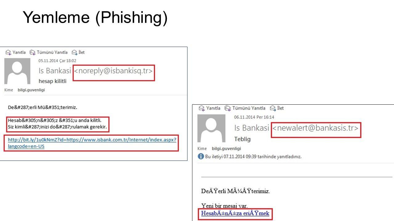 Yemleme (Phishing)