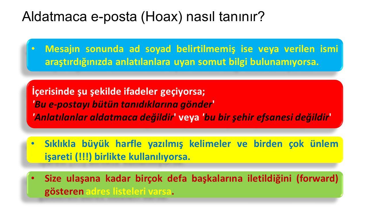 Aldatmaca e-posta (Hoax) nasıl tanınır
