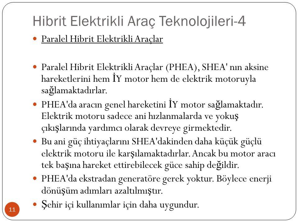 Hibrit Elektrikli Araç Teknolojileri-4