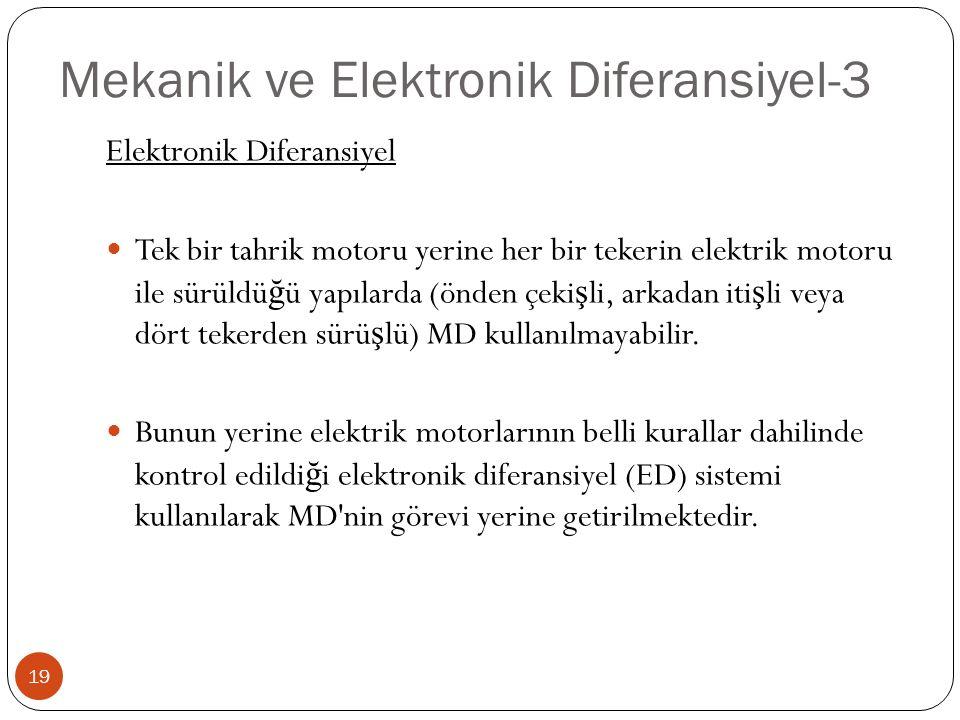 Mekanik ve Elektronik Diferansiyel-3