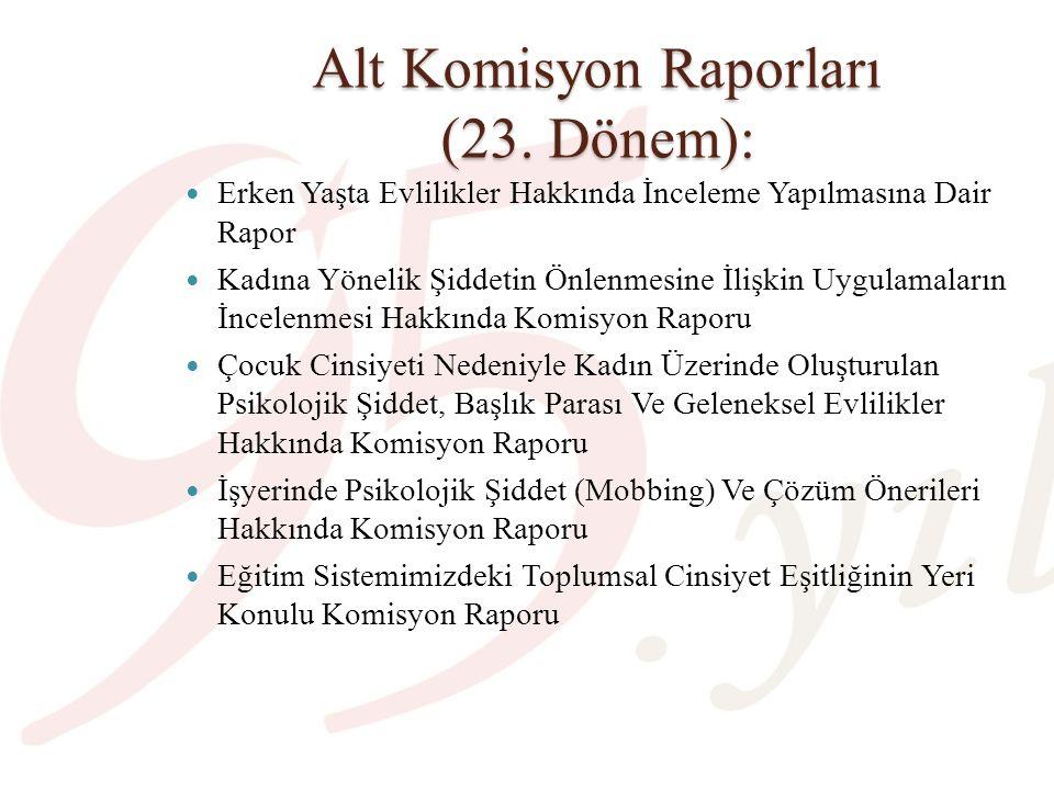 Alt Komisyon Raporları (23. Dönem):