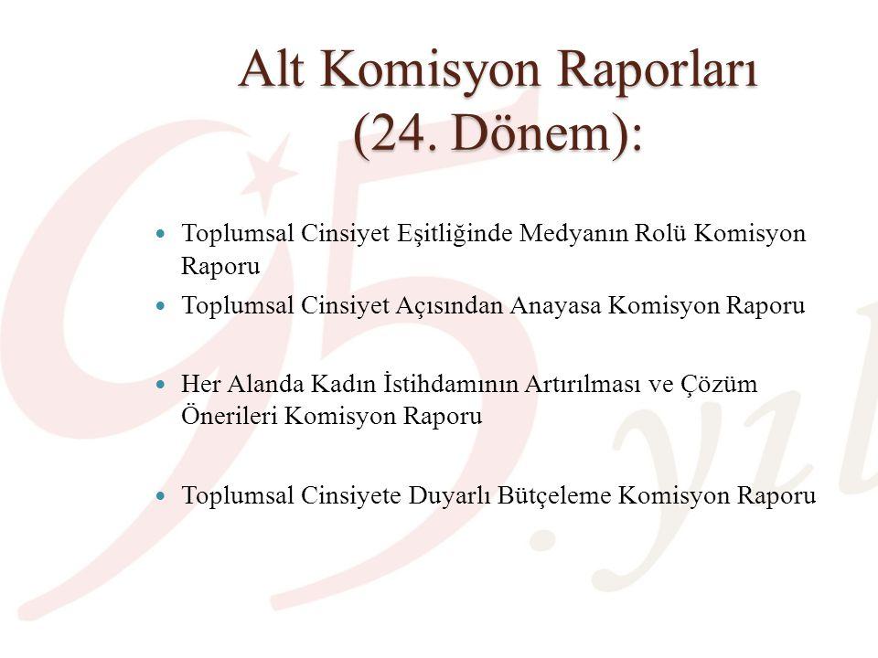 Alt Komisyon Raporları (24. Dönem):