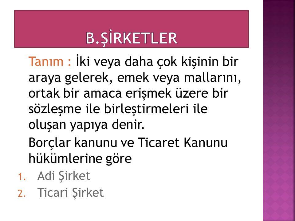 B.ŞİRKETLER