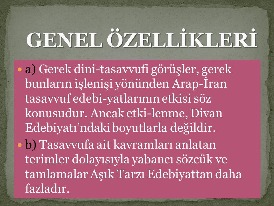 GENEL ÖZELLİKLERİ
