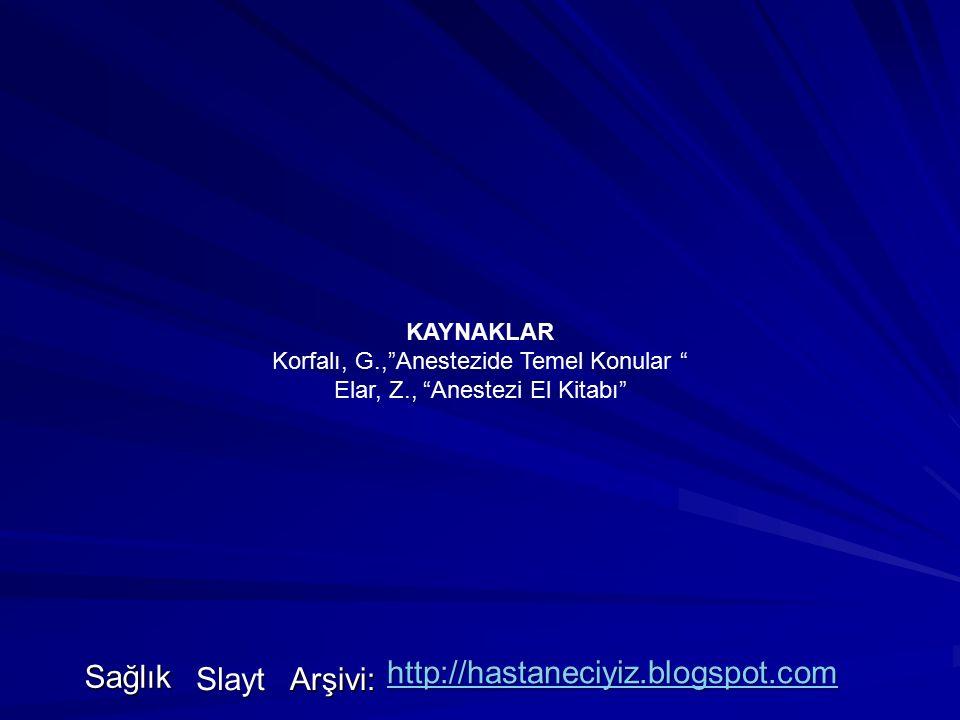 Sağlık http://hastaneciyiz.blogspot.com Slayt Arşivi: KAYNAKLAR