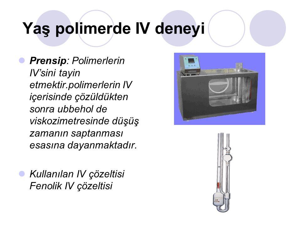 Yaş polimerde IV deneyi