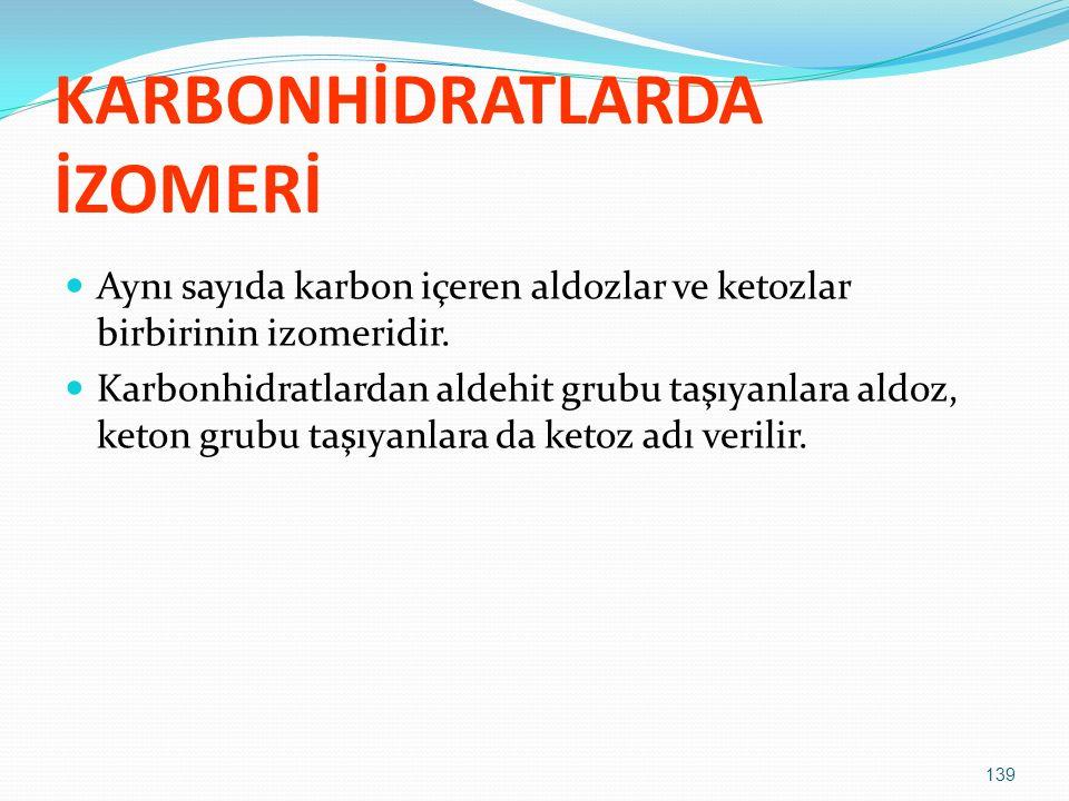 KARBONHİDRATLARDA İZOMERİ