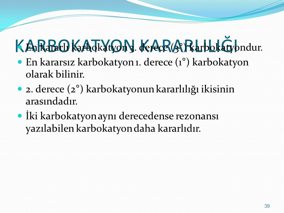 KARBOKATYON KARARLILIĞI