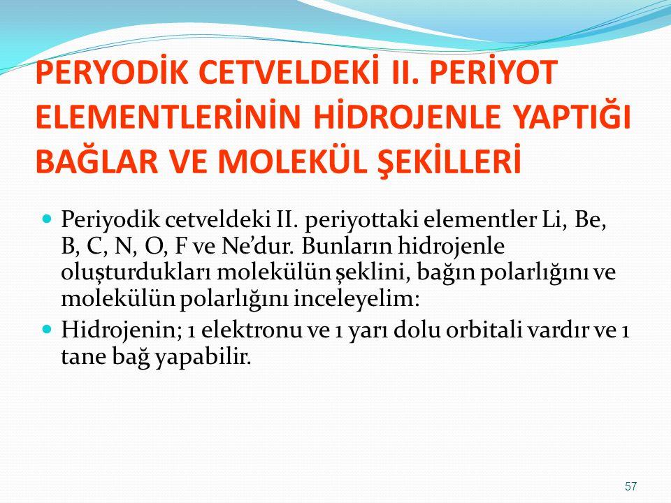 PERYODİK CETVELDEKİ II