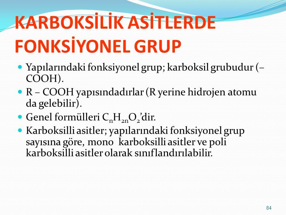 KARBOKSİLİK ASİTLERDE FONKSİYONEL GRUP
