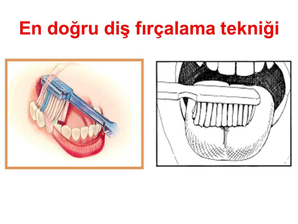 En doğru diş fırçalama tekniği