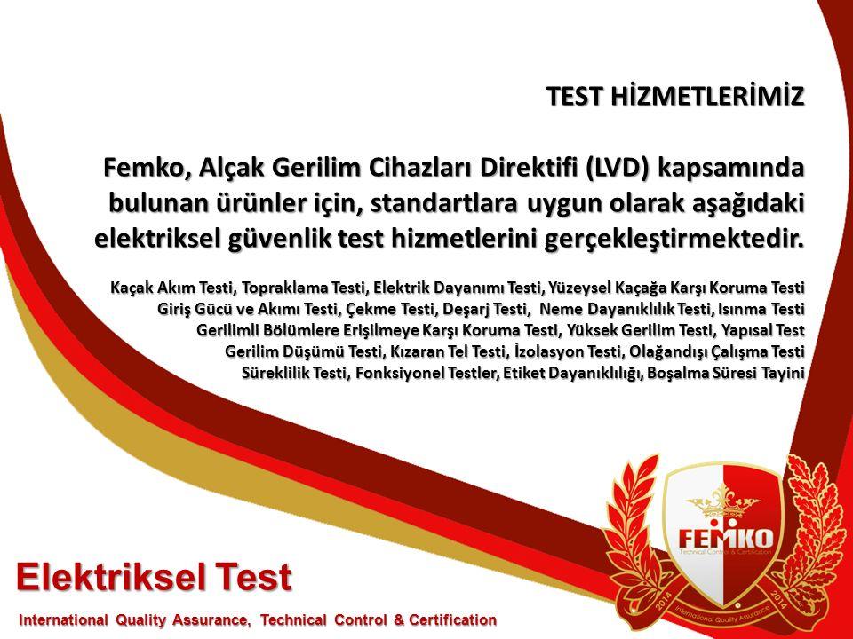 Elektriksel Test TEST HİZMETLERİMİZ