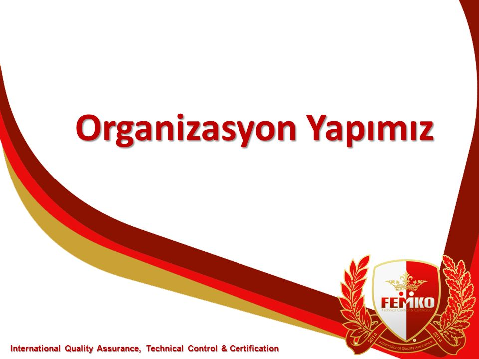 Organizasyon Yapımız International Quality Assurance, Technical Control & Certification
