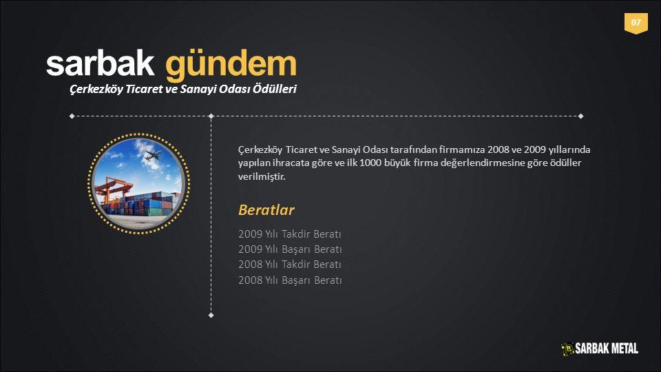 sarbak gündem Beratlar Çerkezköy Ticaret ve Sanayi Odası Ödülleri