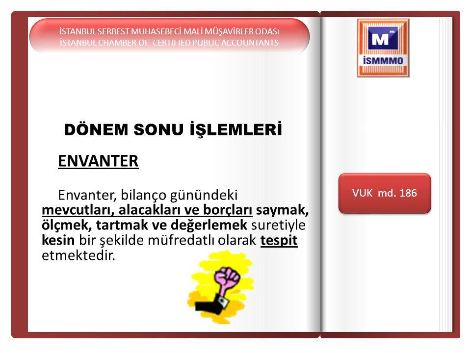 DÖNEM SONU İŞLEMLERİ Giriş ENVANTER
