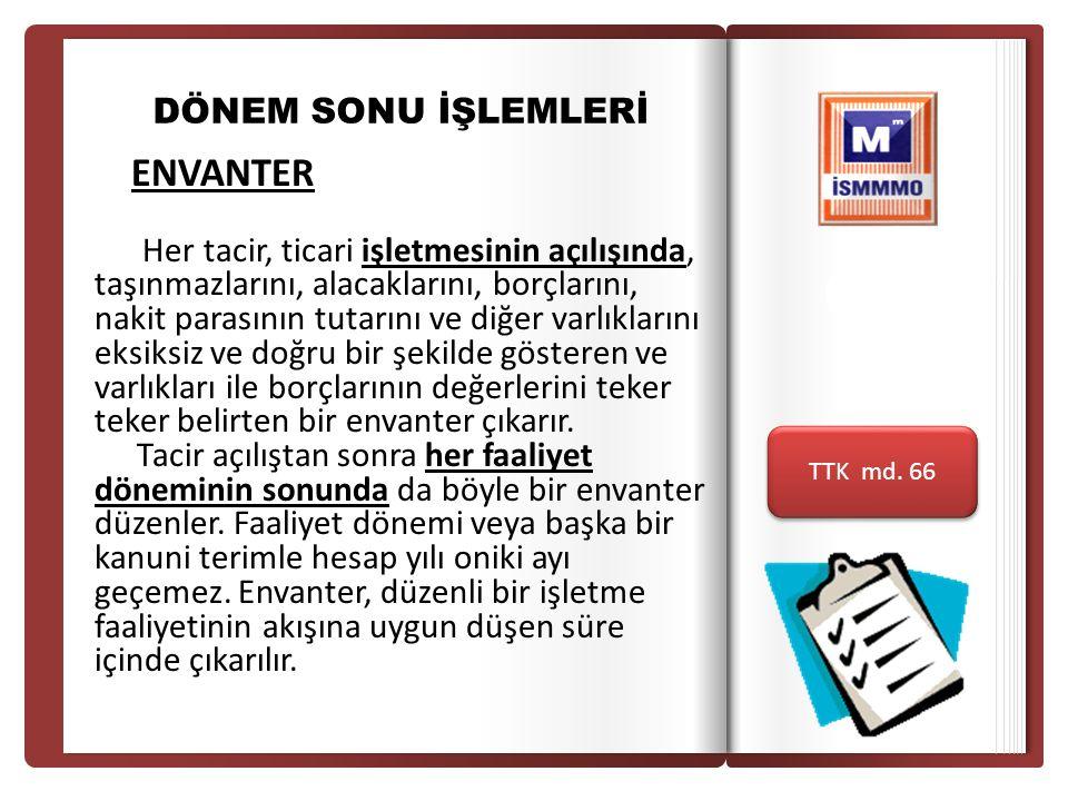 Giriş DÖNEM SONU İŞLEMLERİ. ENVANTER.
